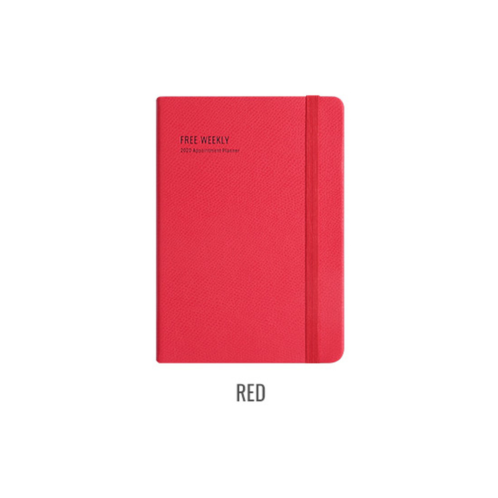 Red - Monopoly 2020 Appointment B6 Free dated weekly planner