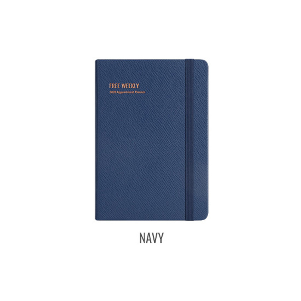 Navy - Monopoly 2020 Appointment B6 Free dated weekly planner