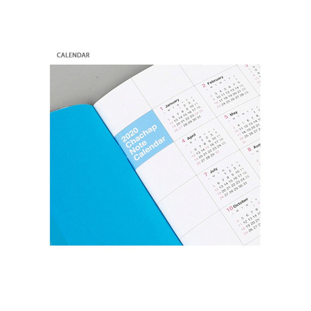 Calendar - Chachap 2020 Note dated monthly planner scheduler