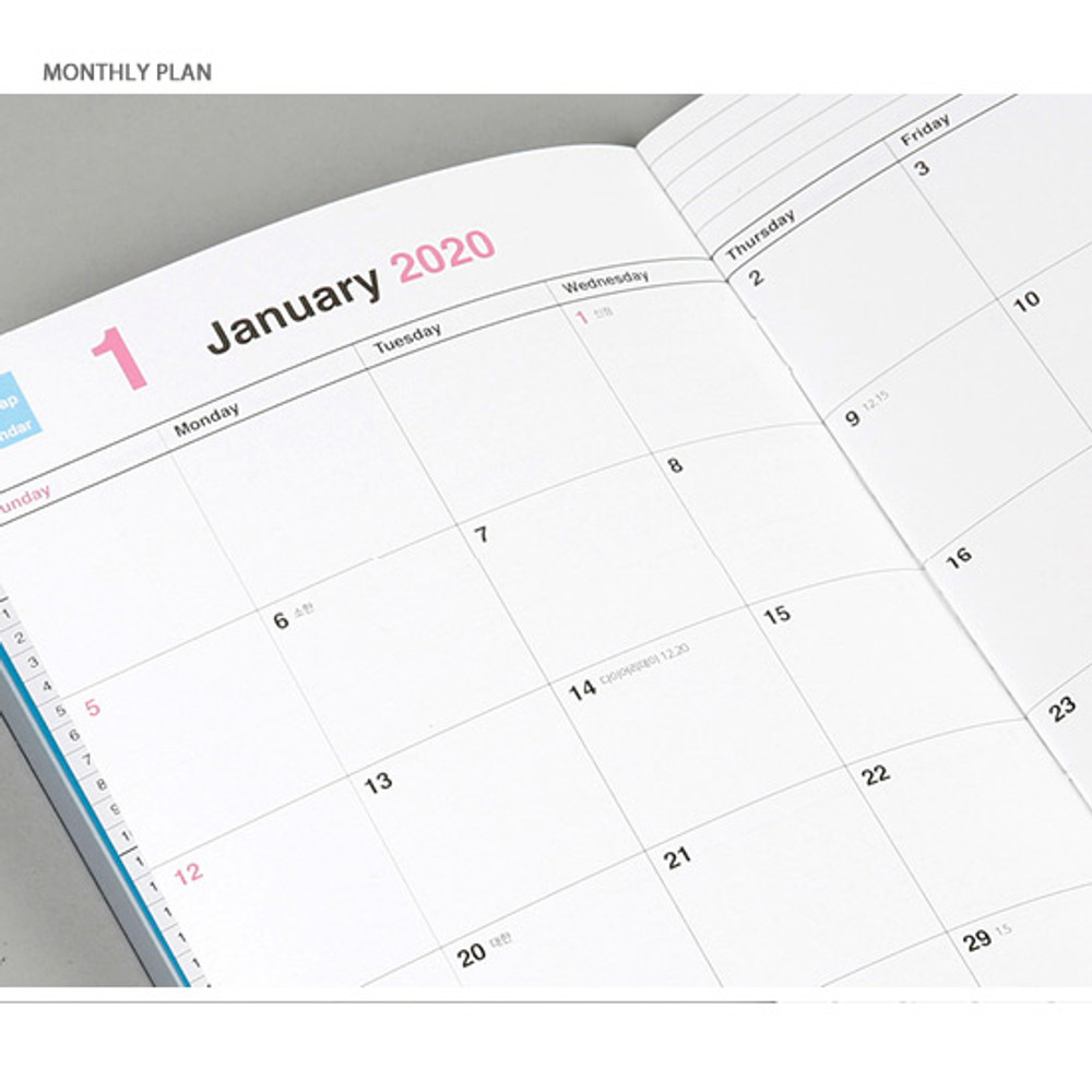 Monthly plan - Chachap 2020 Note dated monthly planner scheduler