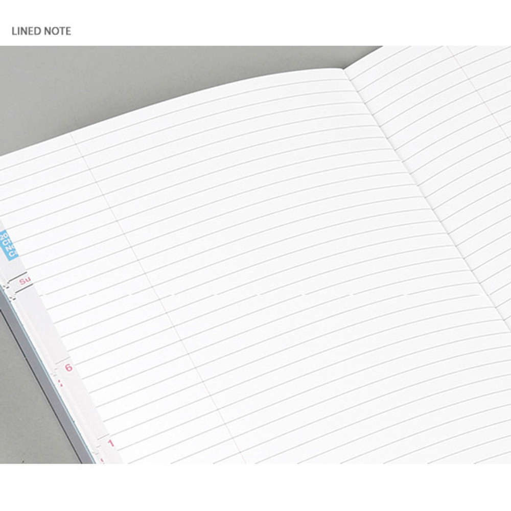 Lined note - Chachap 2020 Note dated monthly planner scheduler