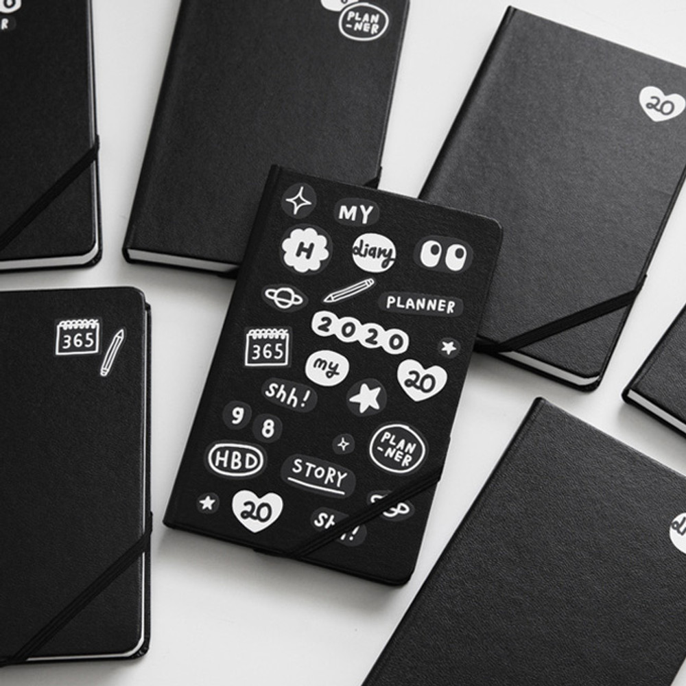 2NUL My black dateless weekly diary planner