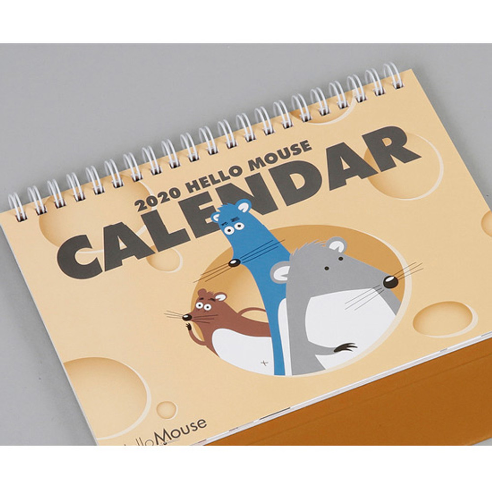 Cover front - Chachap 2020 Hello mouse monthly desk calendar