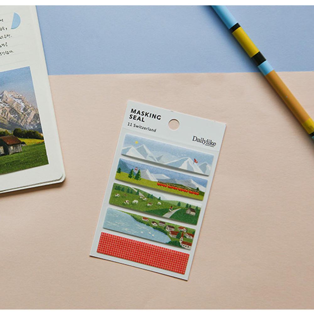 Usage example - Dailylike Switzerland masking seal paper deco sticker set