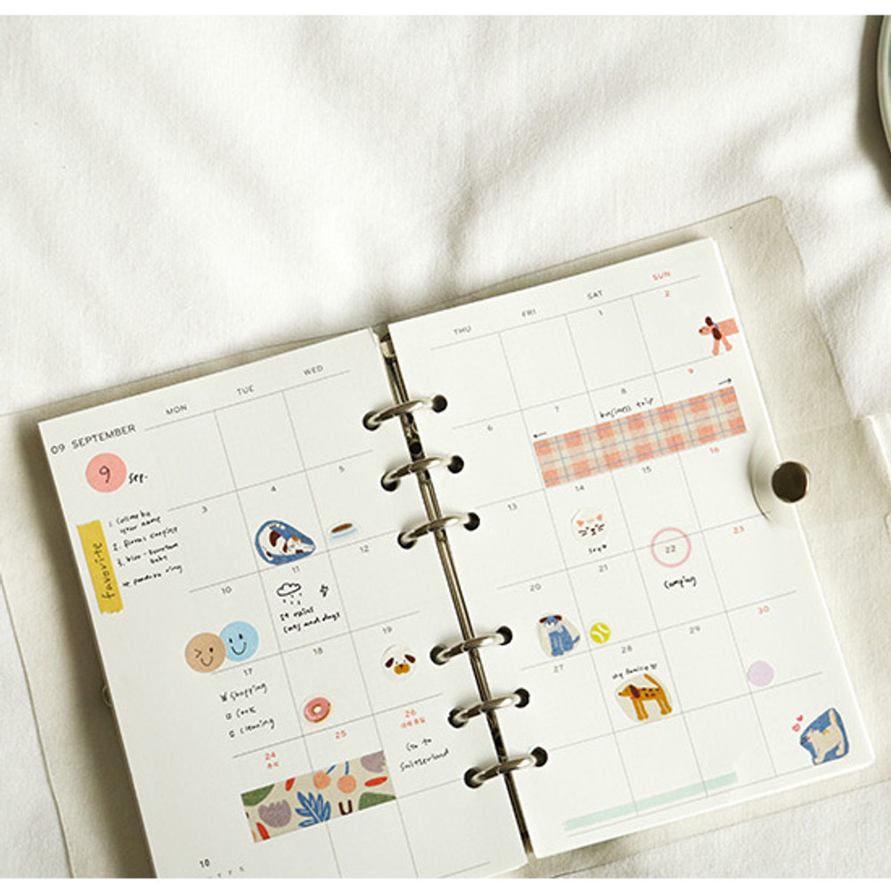 Usage example - Dailylike Friends masking seal paper deco sticker set