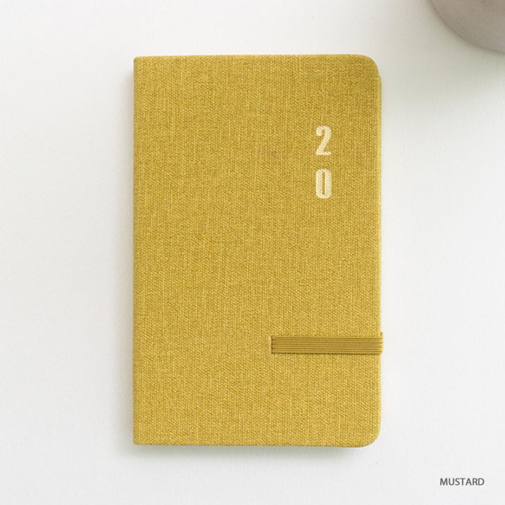 Mustard - eedendesign 2020 Simple dated weekly diary planner