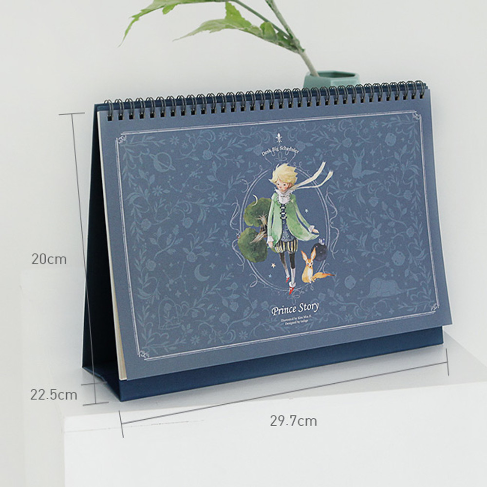 Size of 2020 Little prince dated monthly desk scheduler planner