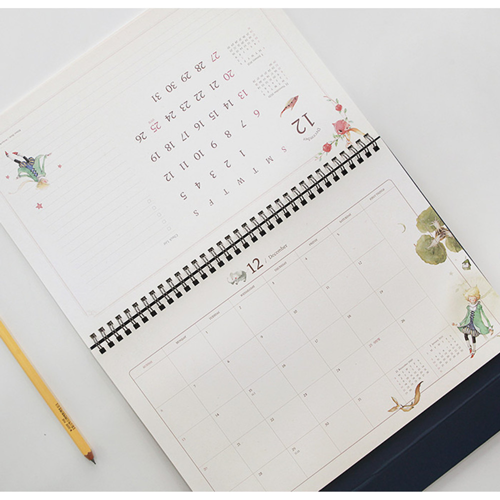 2020 Little prince dated monthly desk scheduler planner