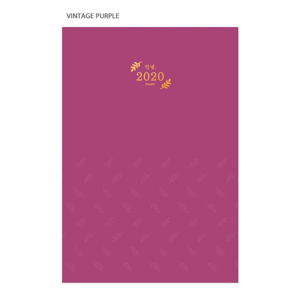 Vintage purple - 3AL Hello 2020 dated weekly diary planner