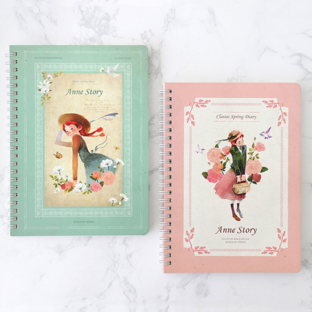 Anne story spiral undated monthly diary notebook