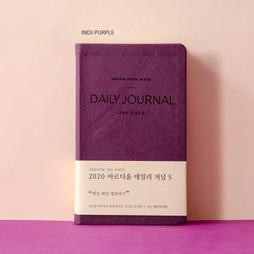 Indi purple - Ardium 2020 365 days small dated daily journal diary