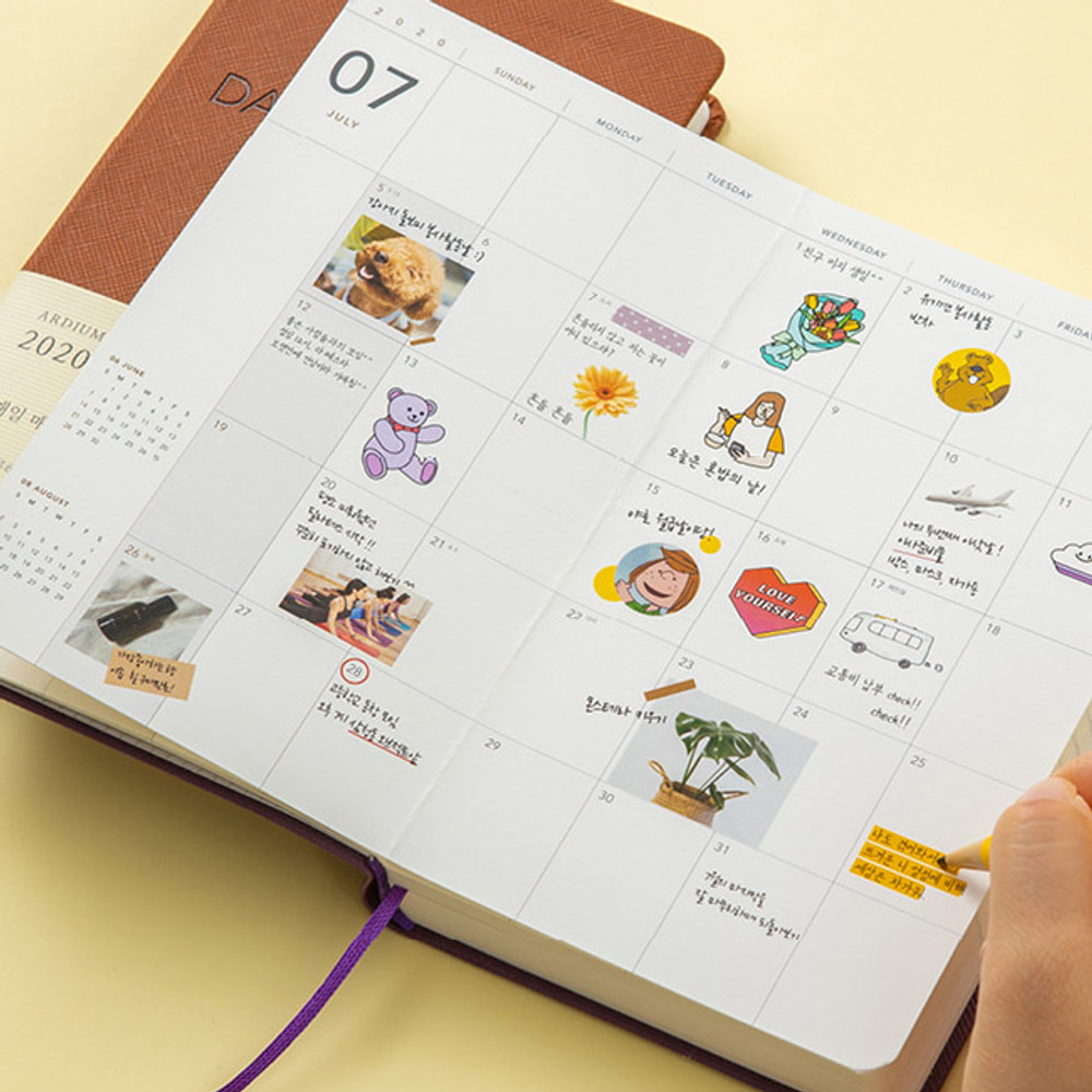 Usage example - Ardium 2020 365 days small dated daily journal diary