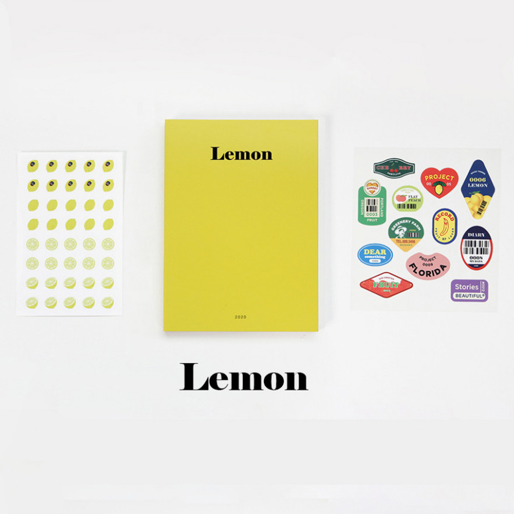 Lemon - GMZ 2020 Fruit dated monthly journal diary with sticker