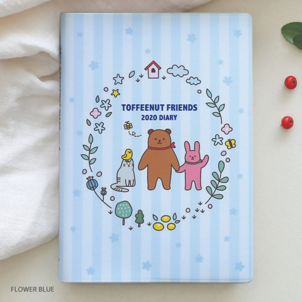 Flower blue - Monopoly 2020 Toffeenut friends dated weekly diary planner