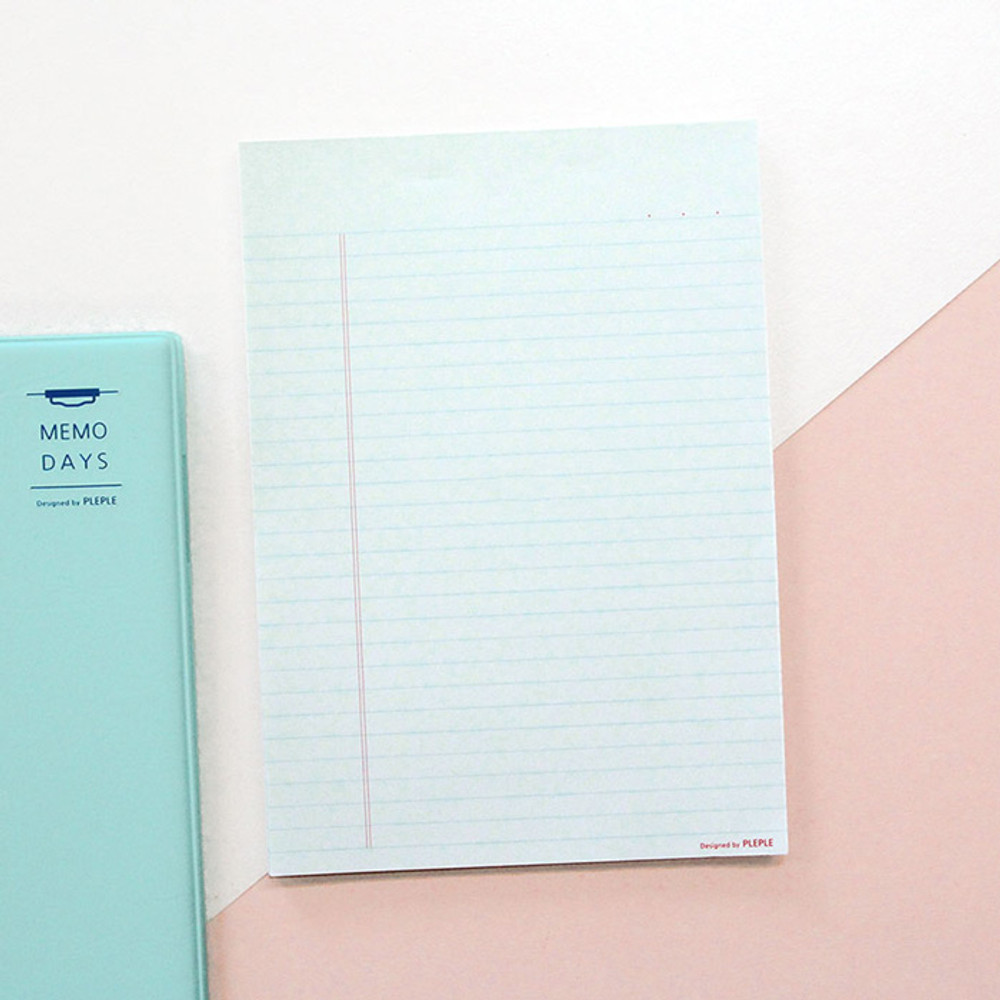 Blue lined - PLEPLE Daily notes memo notepad