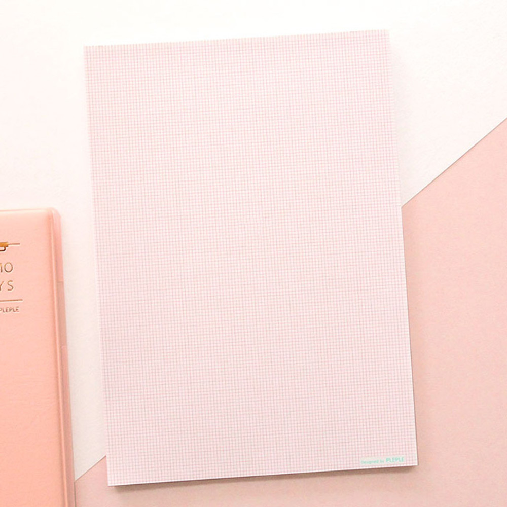 Pink grid - PLEPLE Daily notes memo notepad