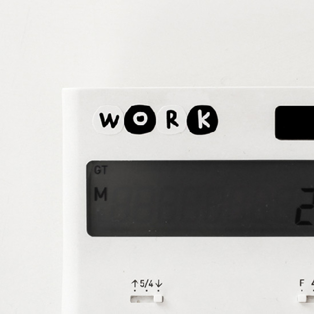 Usage example - 2NUL Drawing alphabet sticker set