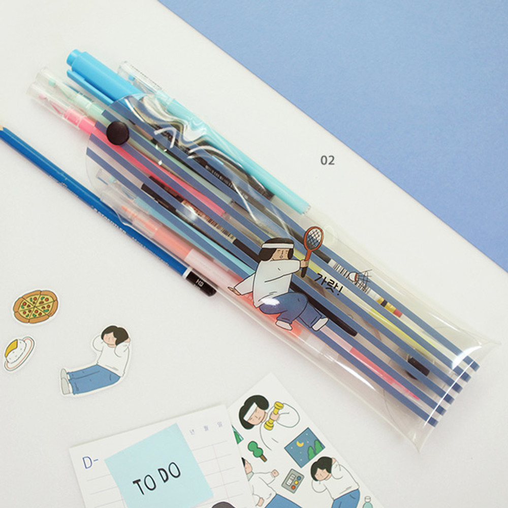 02 - Monologue clear folding pencil case