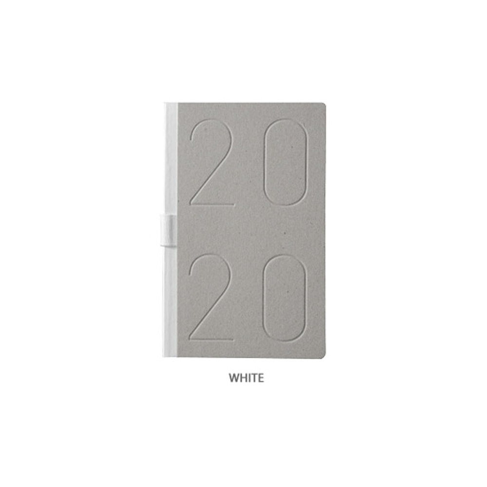 White - Ardium 2020 Premium natural dated monthly diary planner
