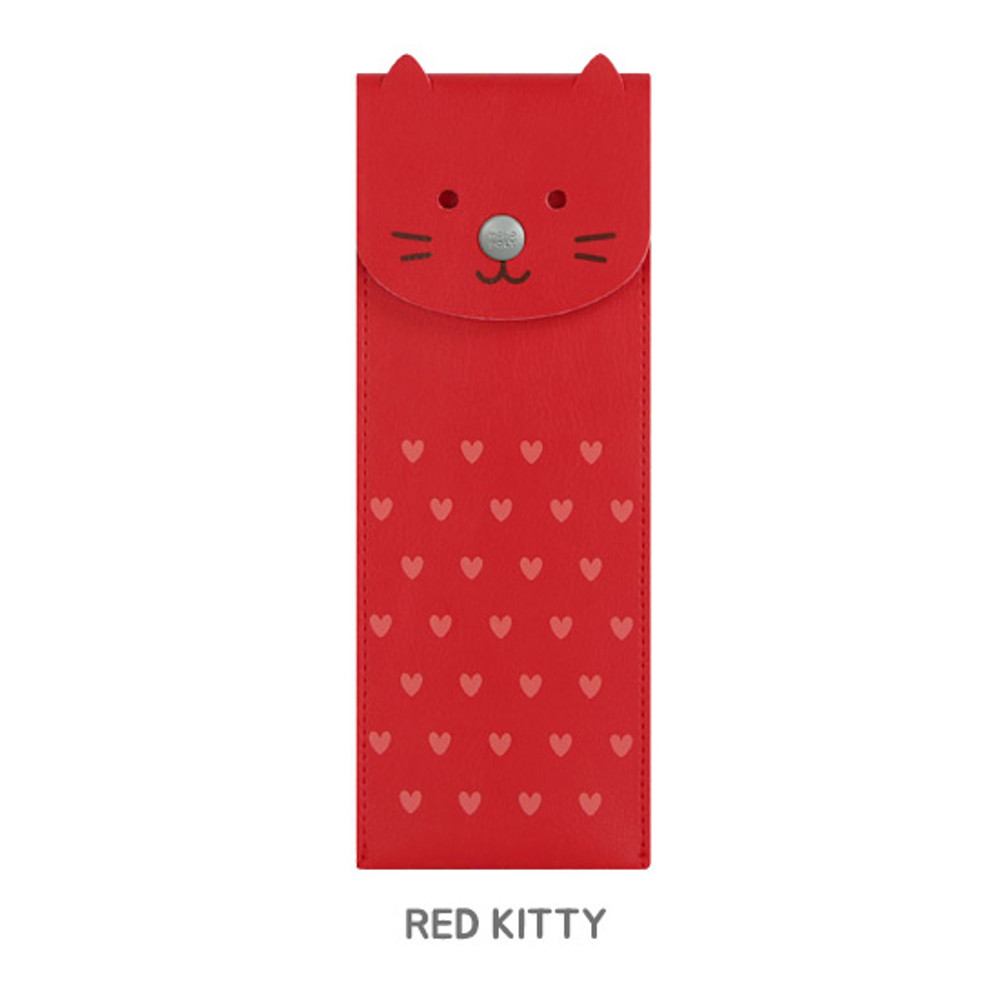Red kitty - Monopoly Toffeenut pen case with elastic band holder