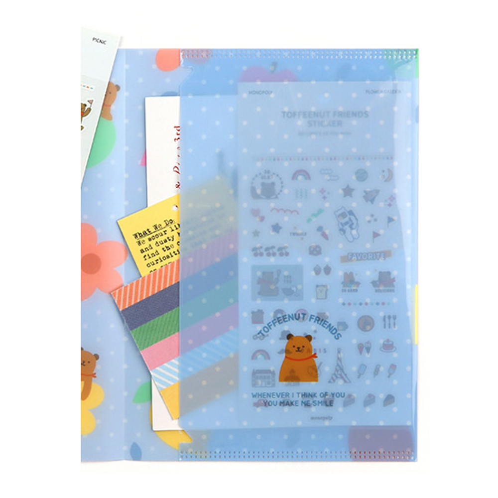 Right pocket - Monopoly Toffeenut friends PP document file folder