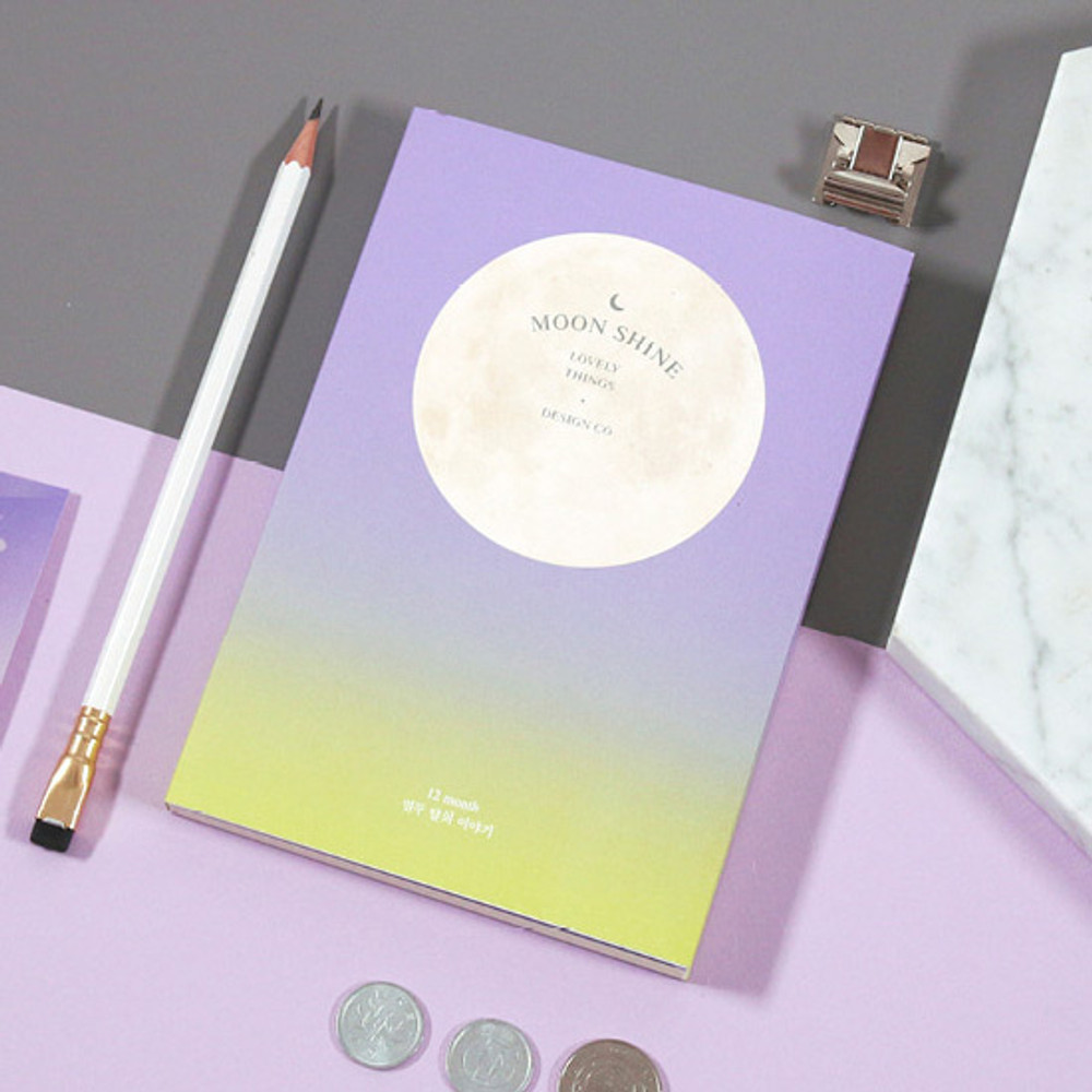 Violet-Lime - Second Mansion Moon shine dateless weekly diary planner