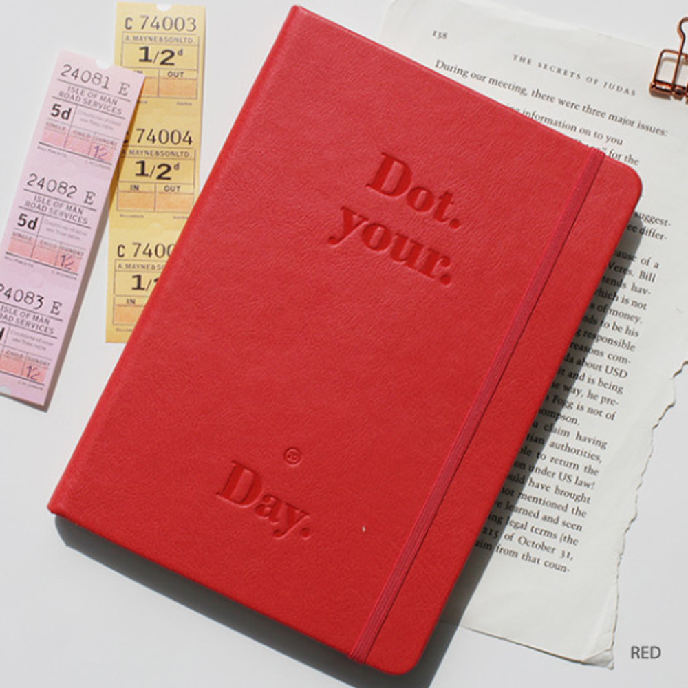 Red - After The Rain 2020 Dot your day weekly dated diary planner