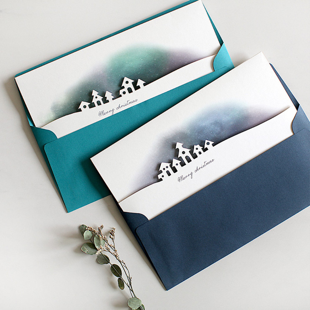 DBD Aurora Christmas card with envelope