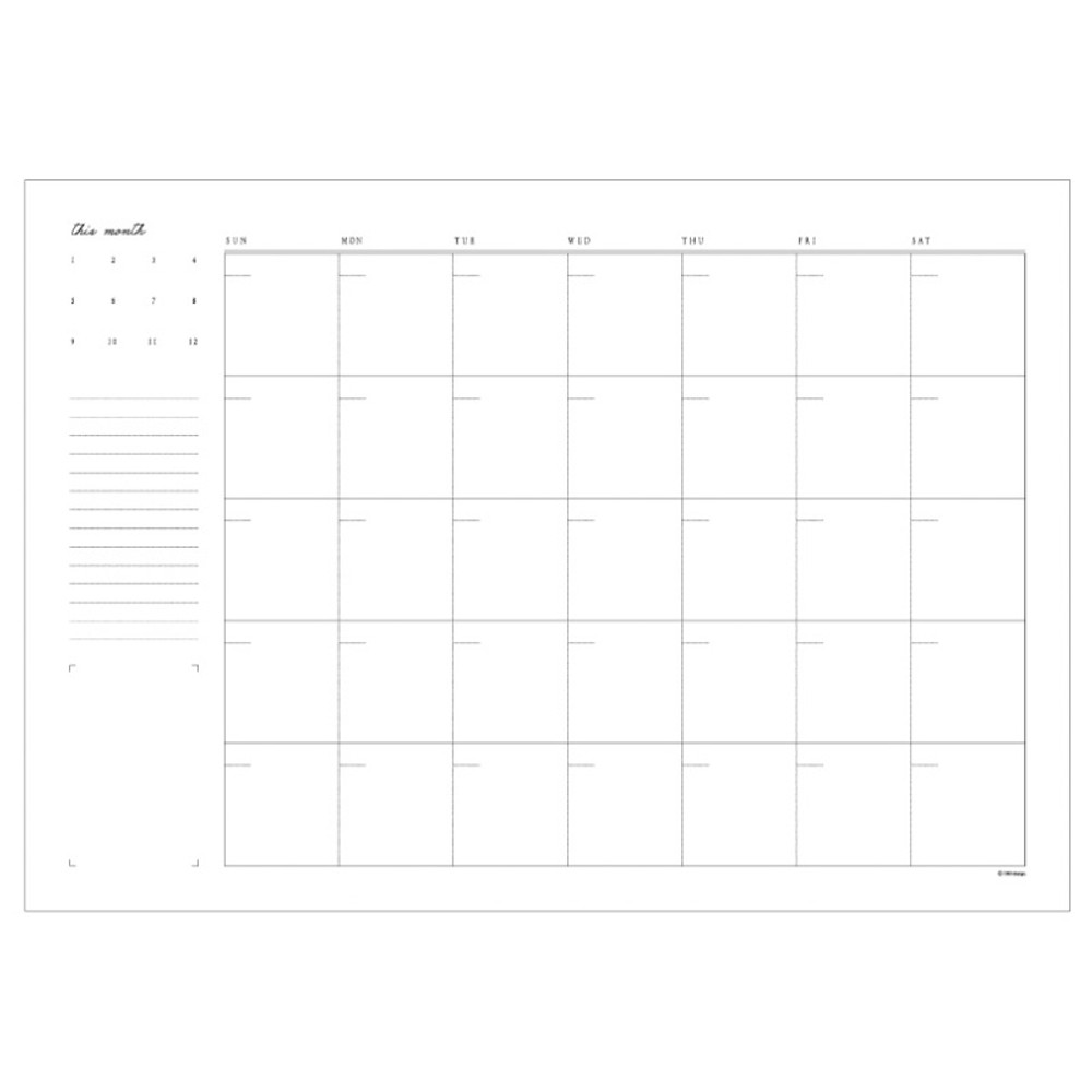 Monthly plan pages - DBD Moment dateless monthly desk planner scheduler pad