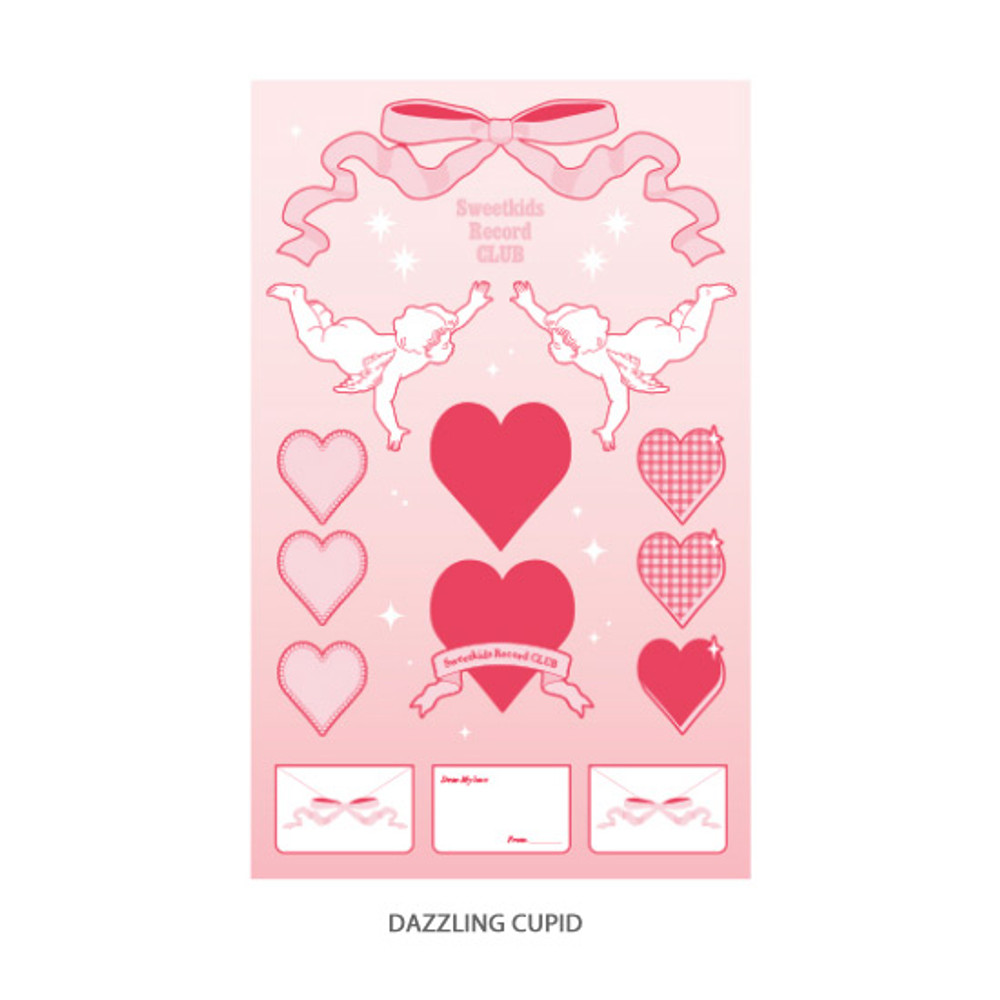 Dazzling cupid - After The Rain Heart room water resistant paper sticker