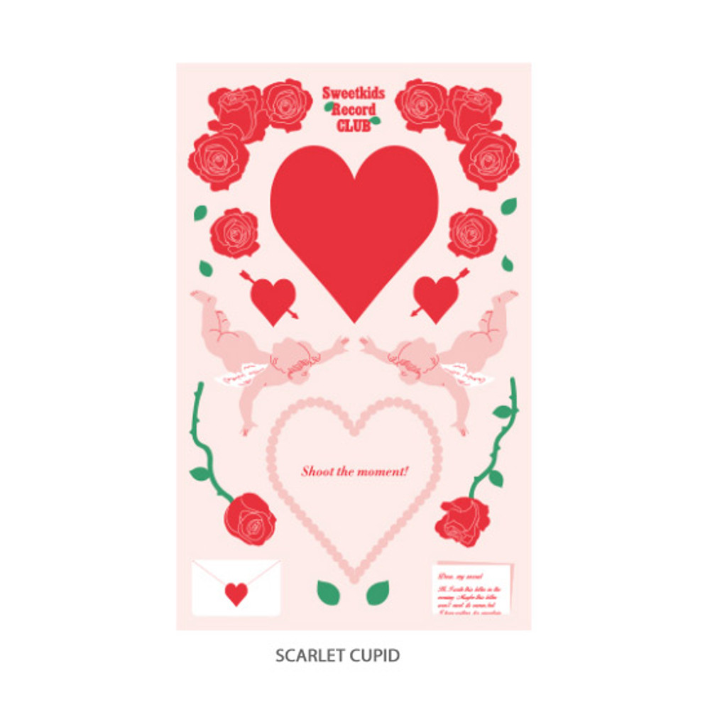 Scarlet cupid - After The Rain Heart room water resistant paper sticker