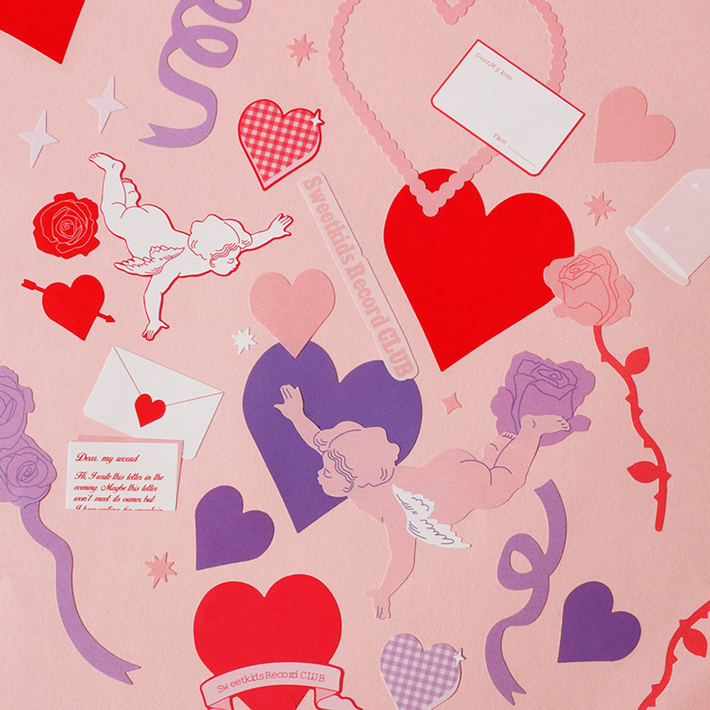 Usage example - After The Rain Heart room water resistant paper sticker