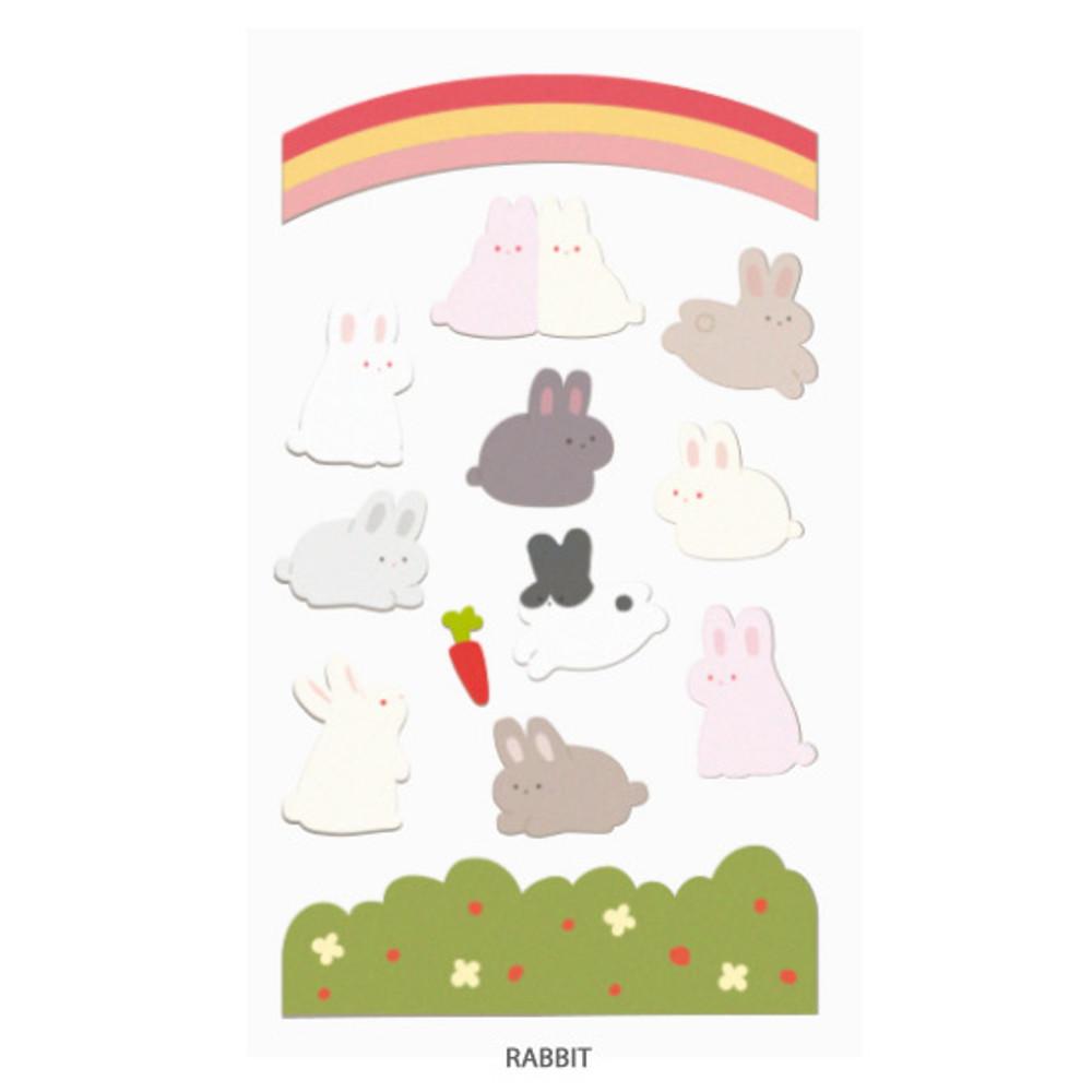 Rabbit - After The Rain Bear and rabbit paper sticker