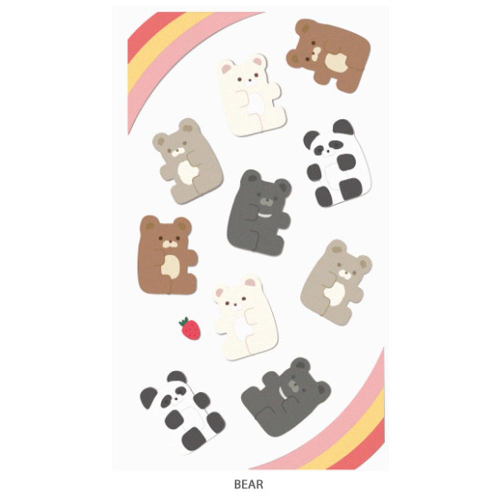 Bear - After The Rain Bear and rabbit paper sticker