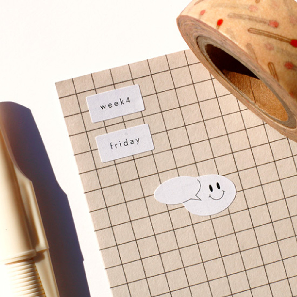 Usage example - After The Rain Blank and daily paper sticker set