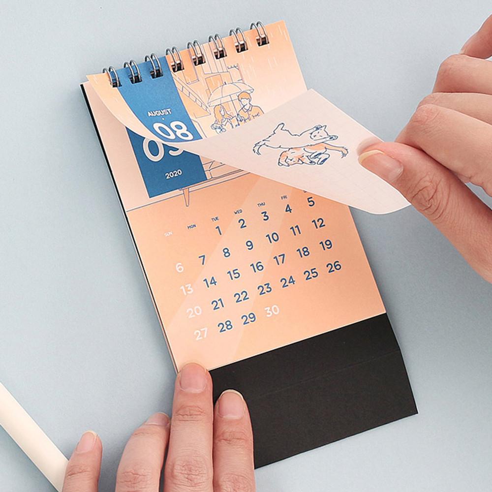Wanna This My 2020 mini monthly standing desk calendar