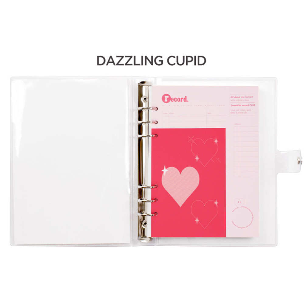 Dazzling cupid -  After The Rain Heart room 6-ring dateless monthly planner
