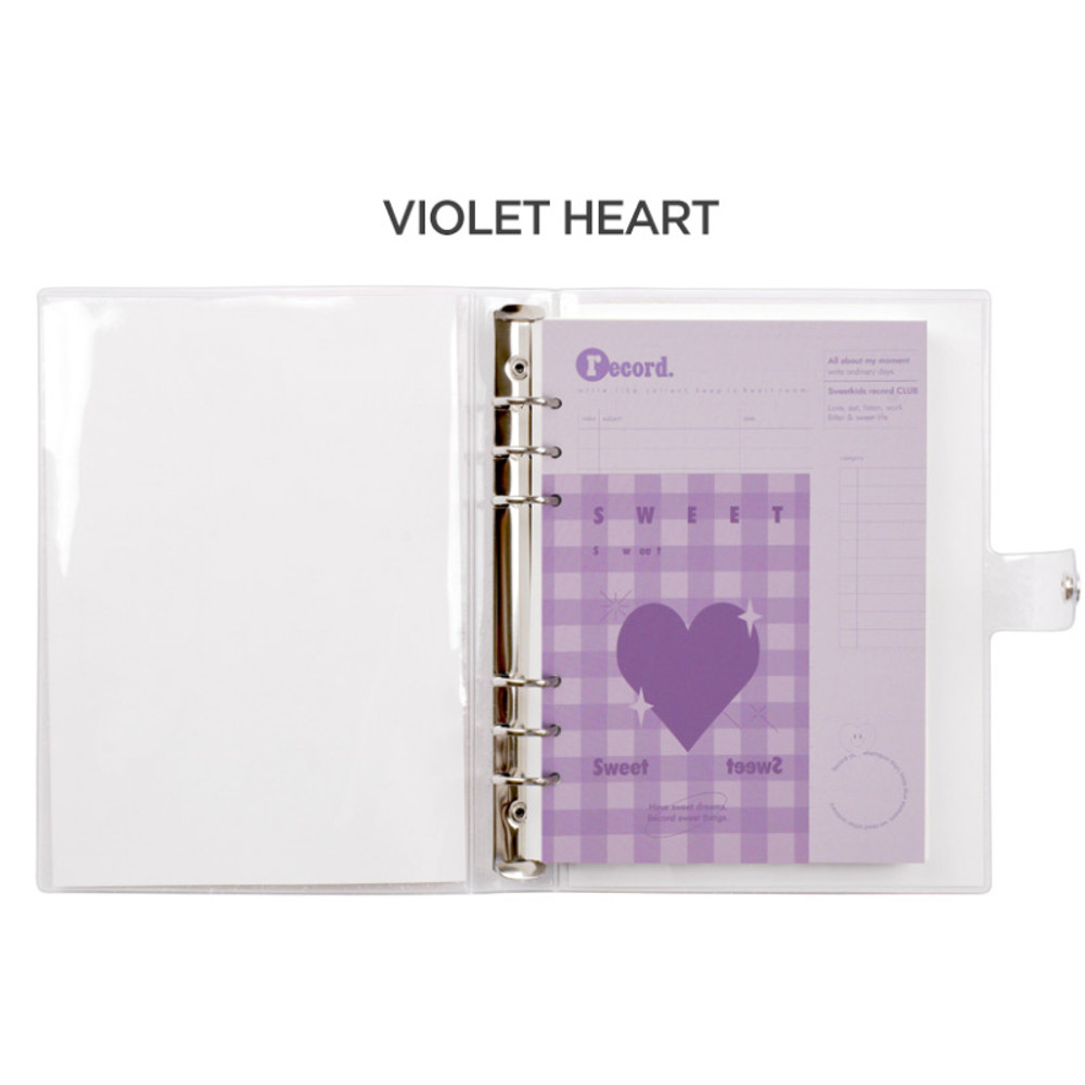 Purple heart -  After The Rain Heart room 6-ring dateless monthly planner