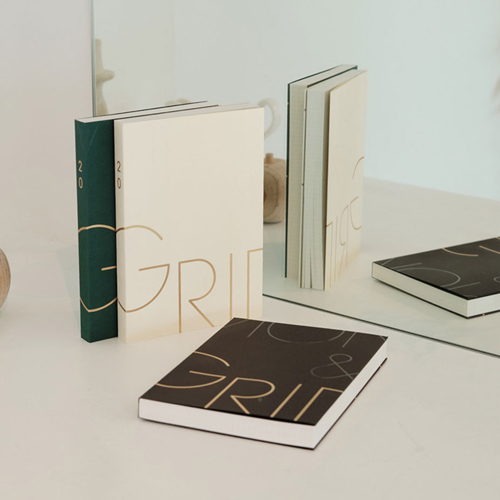 Eedendesign 2020 Moon and grid monthly dated diary planner