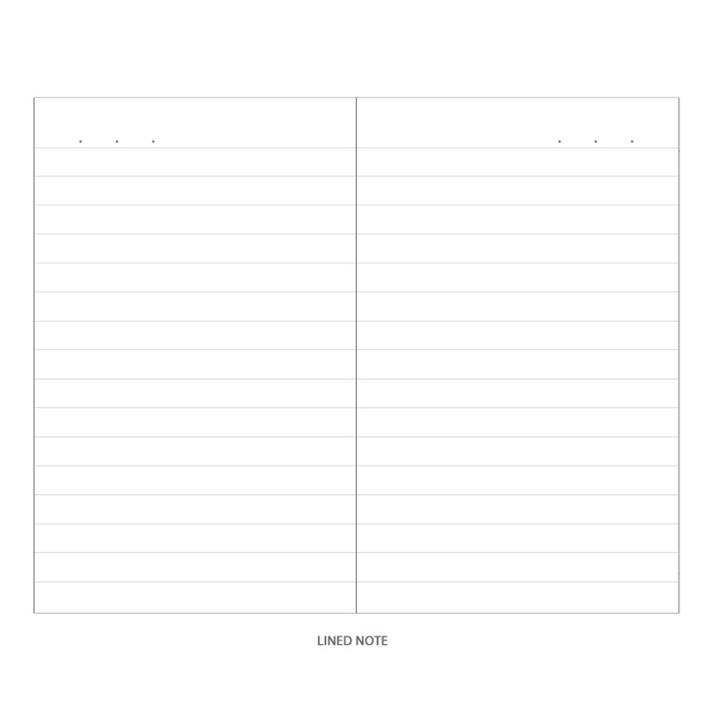 Lined note - Monopoly Simple diario small lined notebook