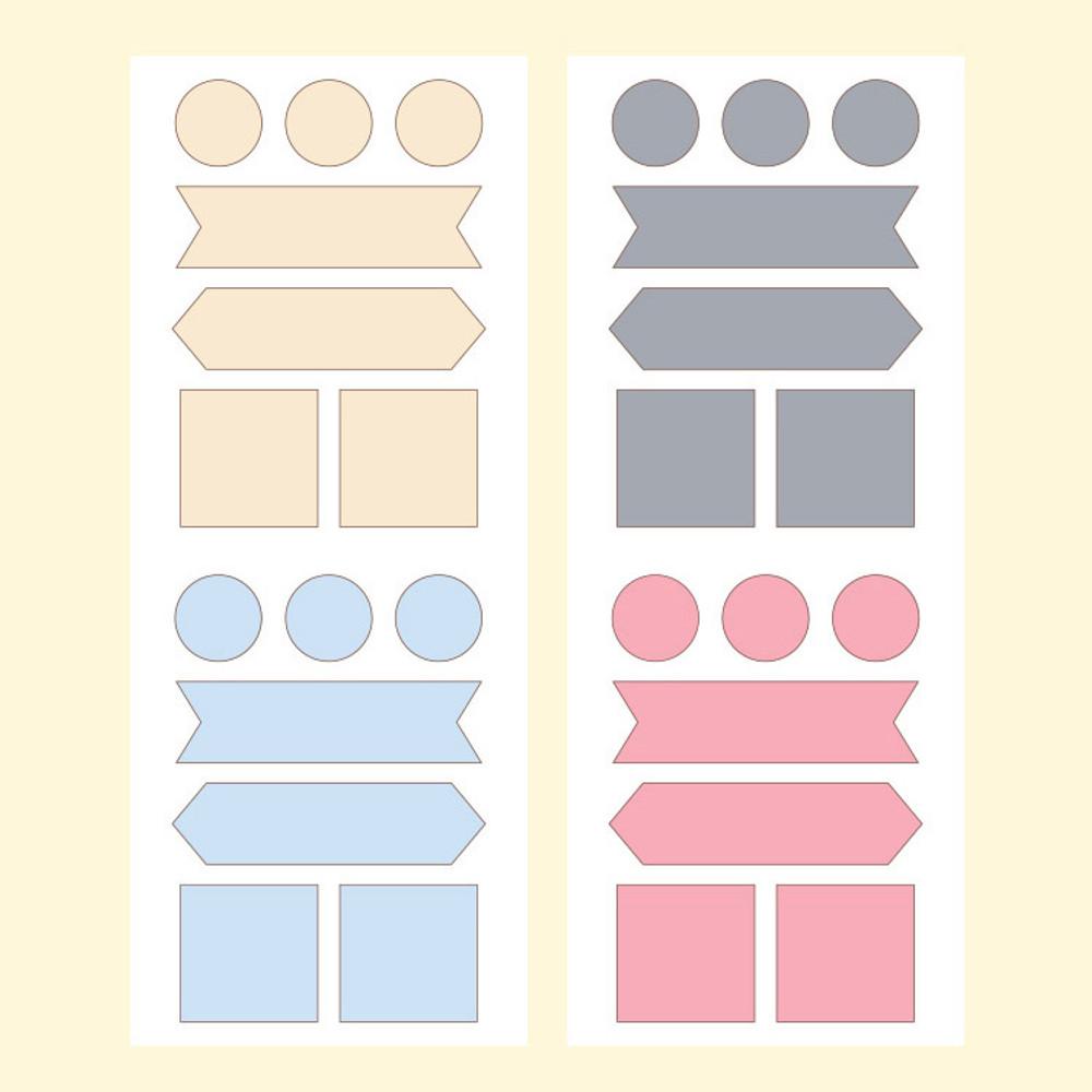 Monopoly Satin label solid sticker