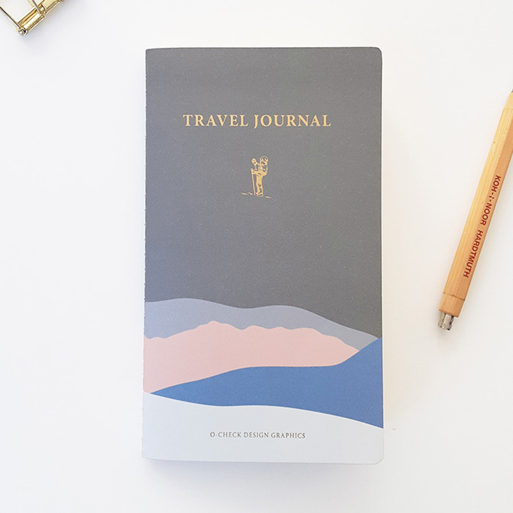 Gray - O-CHECK Travel planner journal notebook