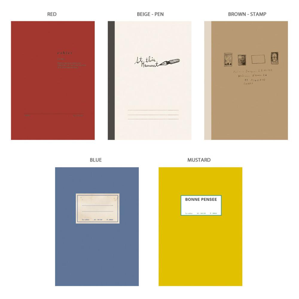Option - O-CHECK Le cahier bonne pensee medium dot notebook