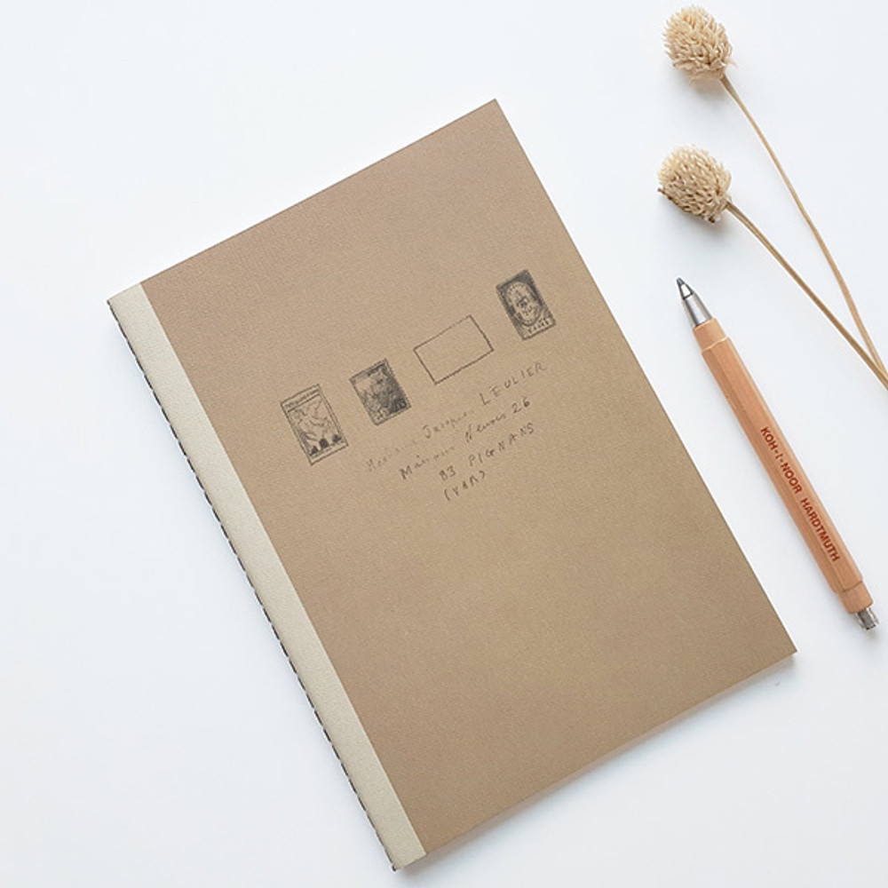 Brown stamp - O-CHECK Le cahier bonne pensee medium dot notebook