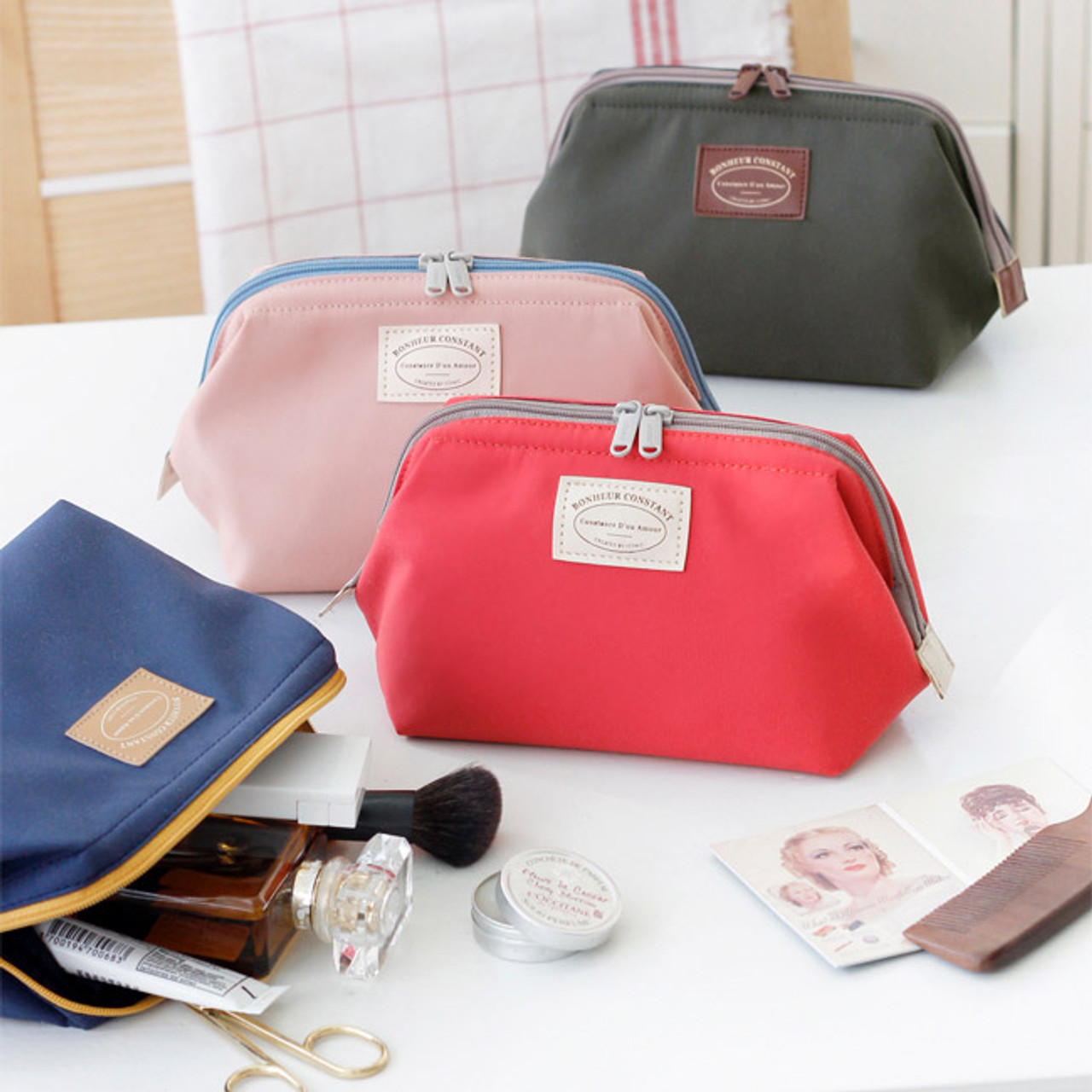Home · Iconic Multi double zipper frame pouch cosmetic bag · Multi double  zipper frame pouch 8e3772bdc2cc9