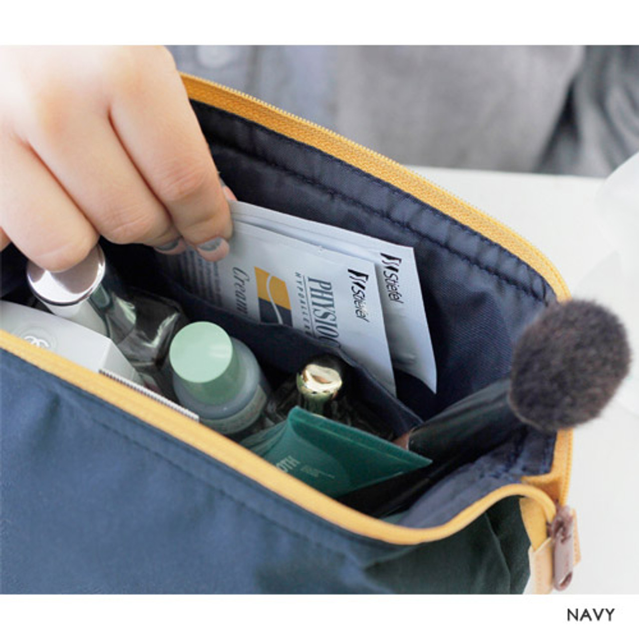 Iconic Multi double zipper frame pouch cosmetic bag - fallindesign cecea848719f3