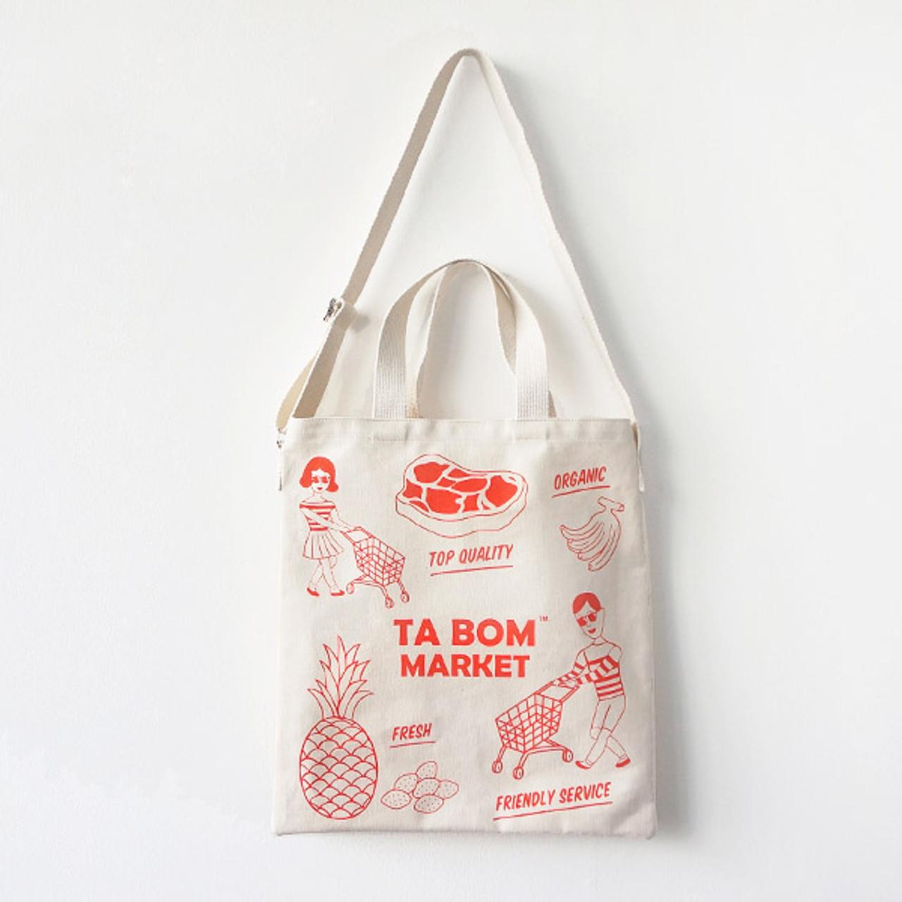 f9bdfc0bd Oohlala Tabom market red tote shoulder bag - fallindesign
