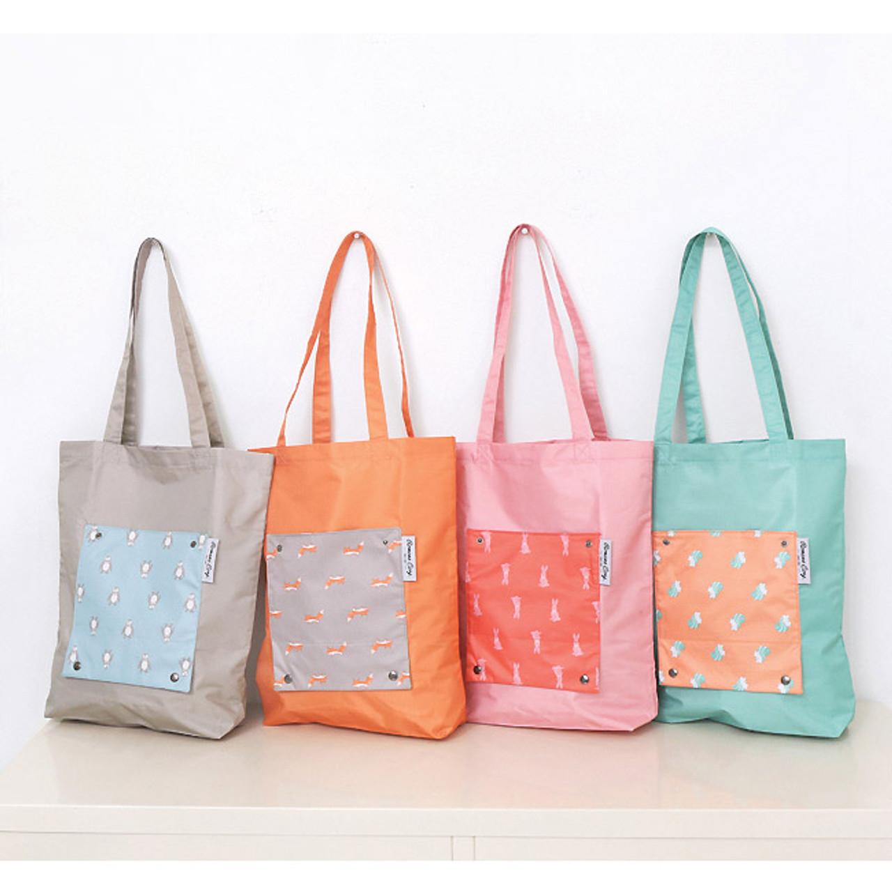 8a578c464 Romane Mr.wood pocket foldable eco tote bag - fallindesign
