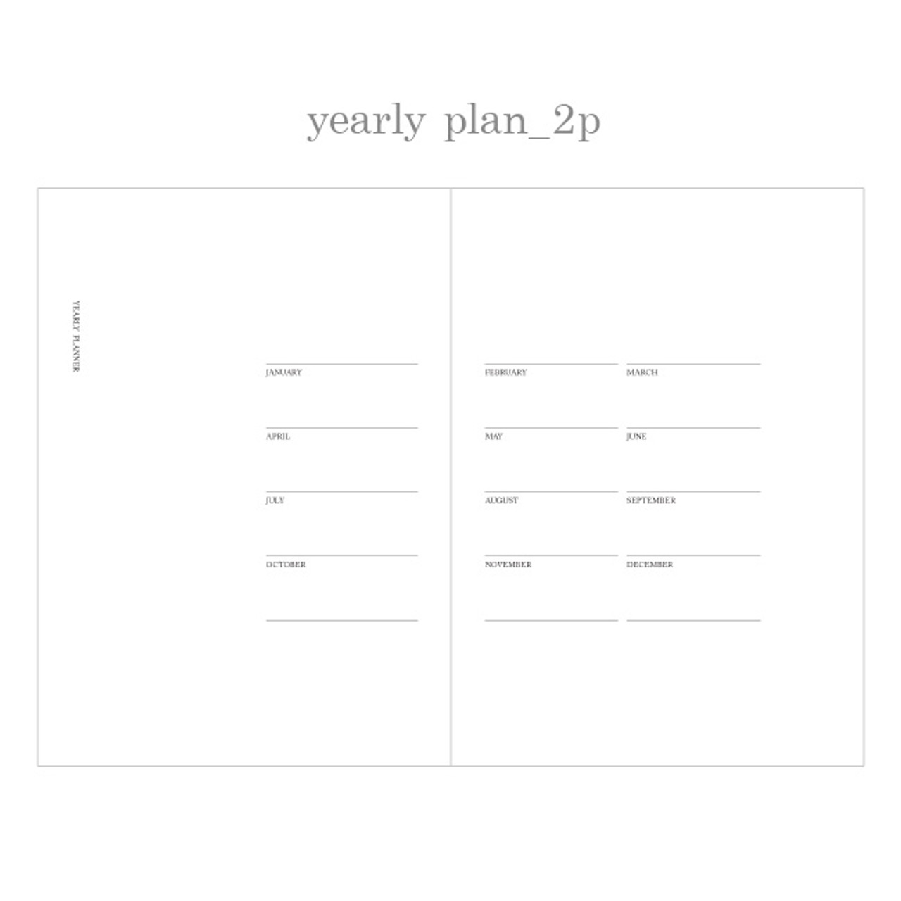 jstory slow and simple monthly undated planner notebook fallindesign