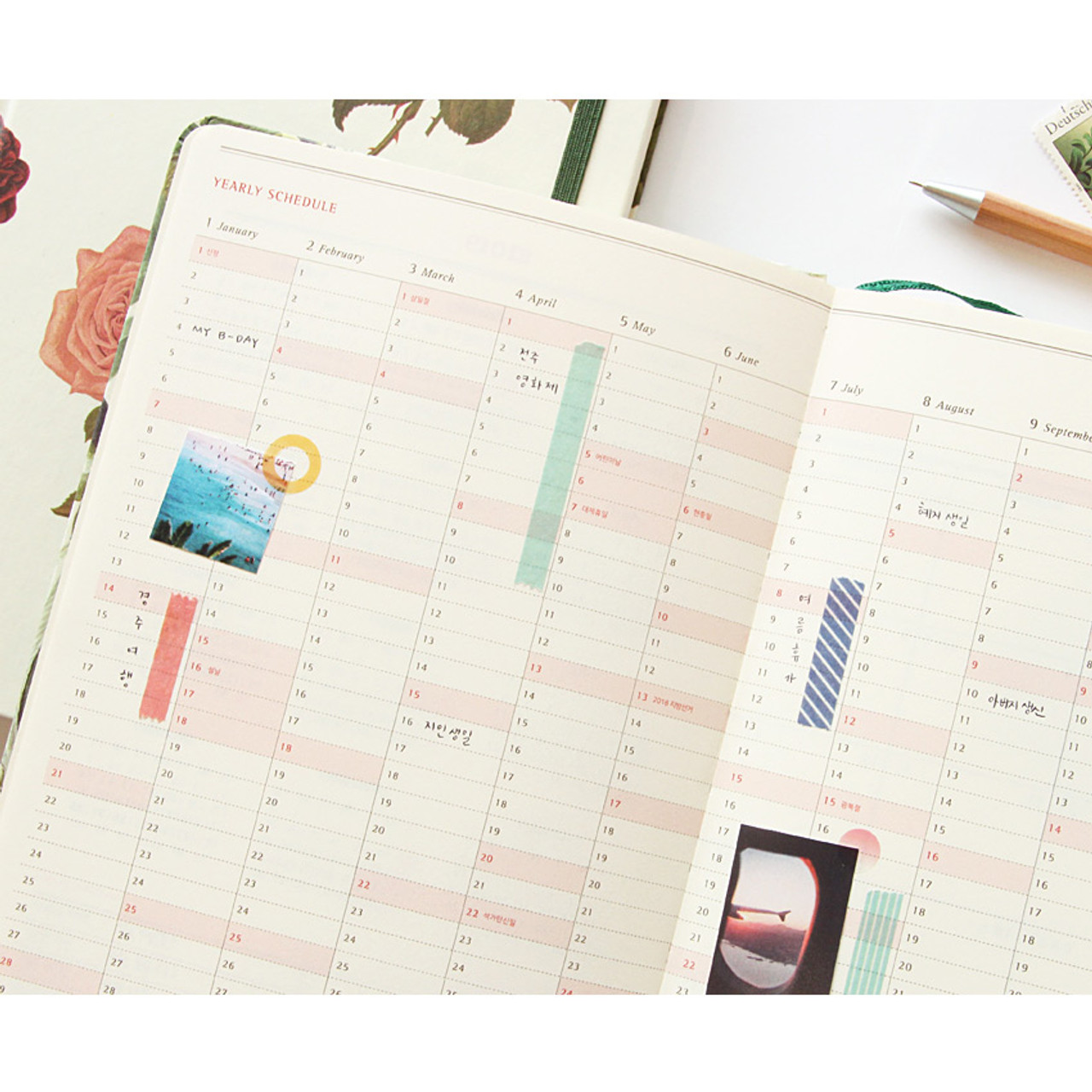 paperian 2018 florence dated hardcover daily diary planner agenda